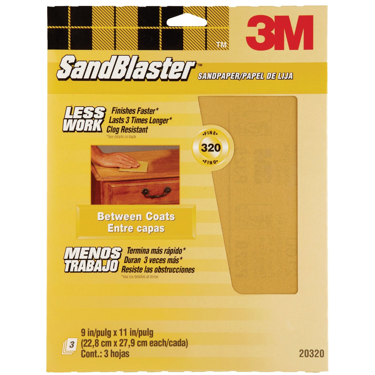 320G SANDPAPER - 20320-G by 3m Co