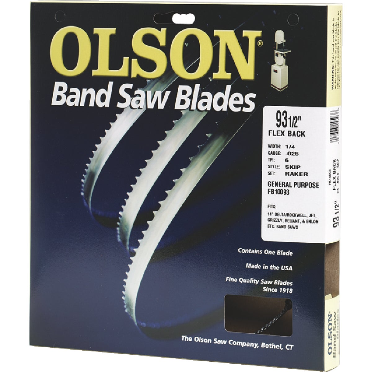 "93-1/2"" BANDSAW BLADE - 10093 by Olson Saw Co"