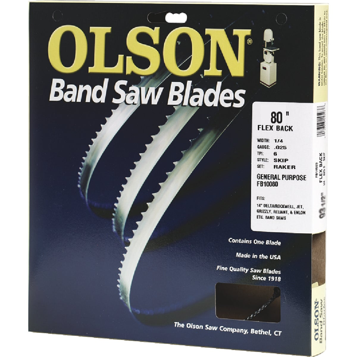 80X3/8 4TPI BLADE - 19280 by Olson Saw Co