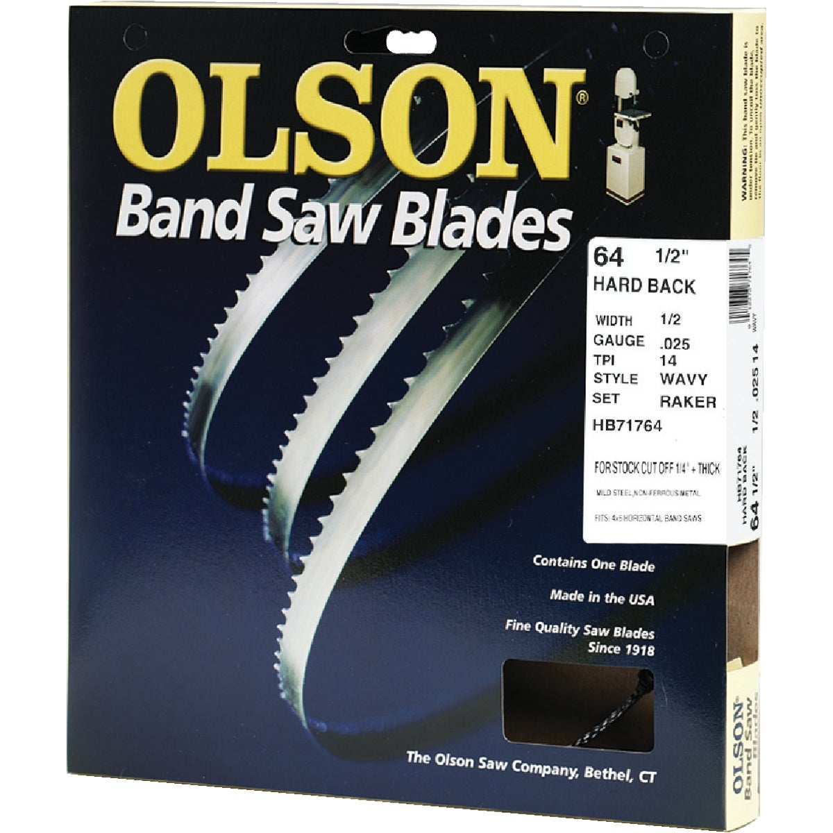 "64-1/2"" BANDSAW BLADE - 71764 by Olson Saw Co"