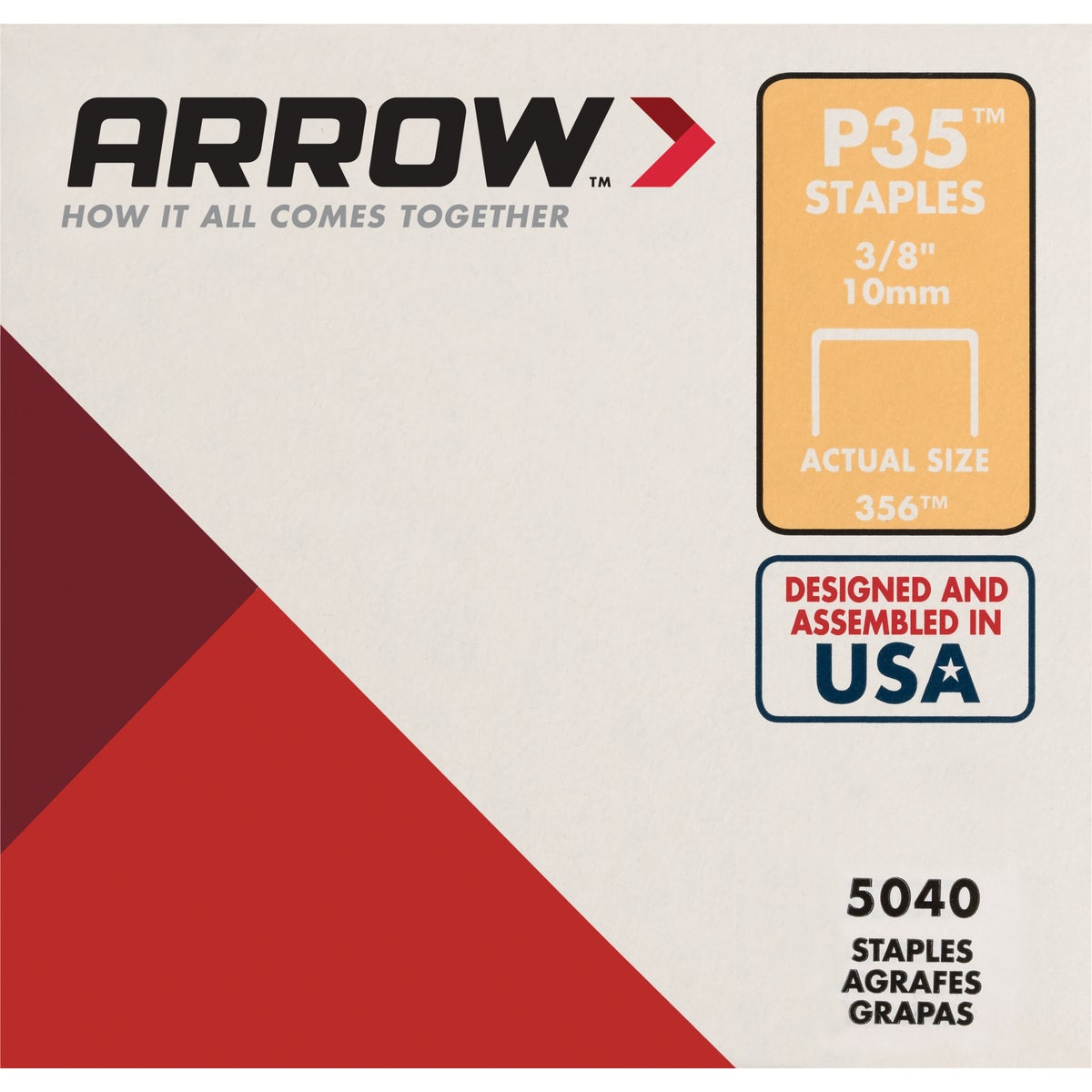 "3/8"" STAPLE - 356 by Arrow Fastener Co"