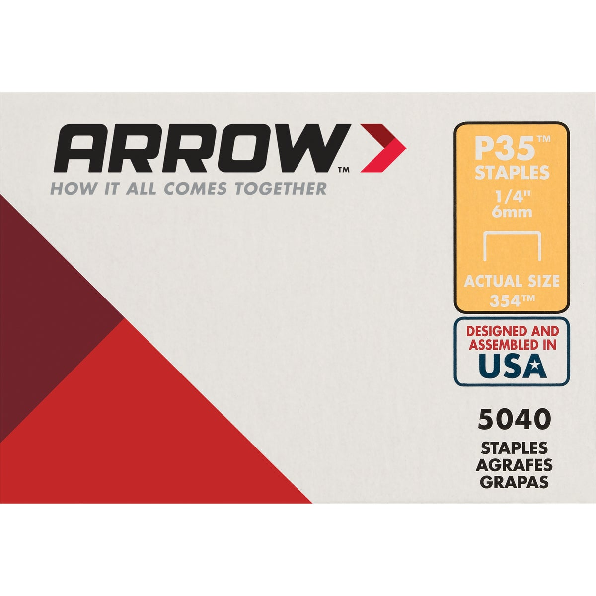 "1/4"" STAPLE - 354 by Arrow Fastener Co"