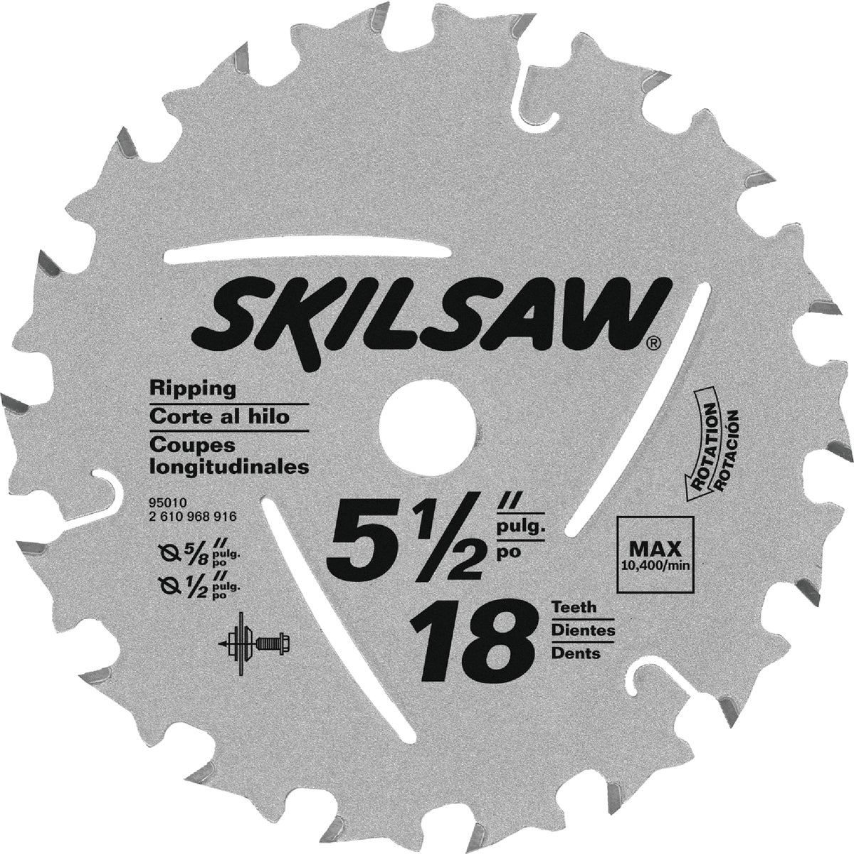 "5-1/2"" X 18T SAW BLADE - 95010 by Robt Bosch Tool Skil"