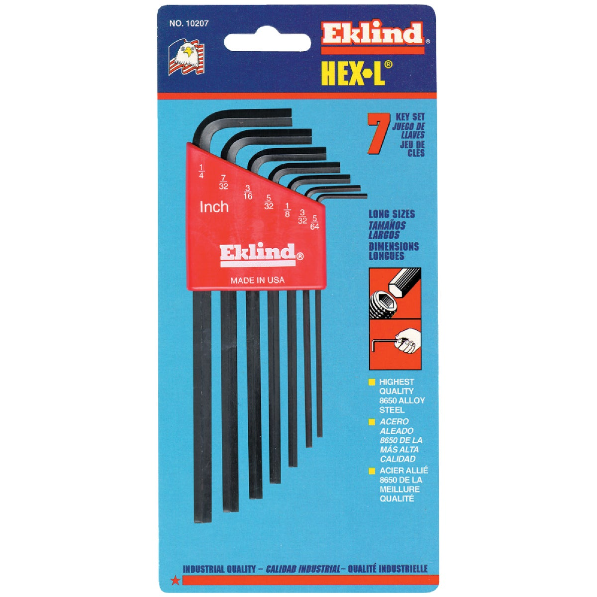 7PC LONG HEX KEY - 10207 by Eklind