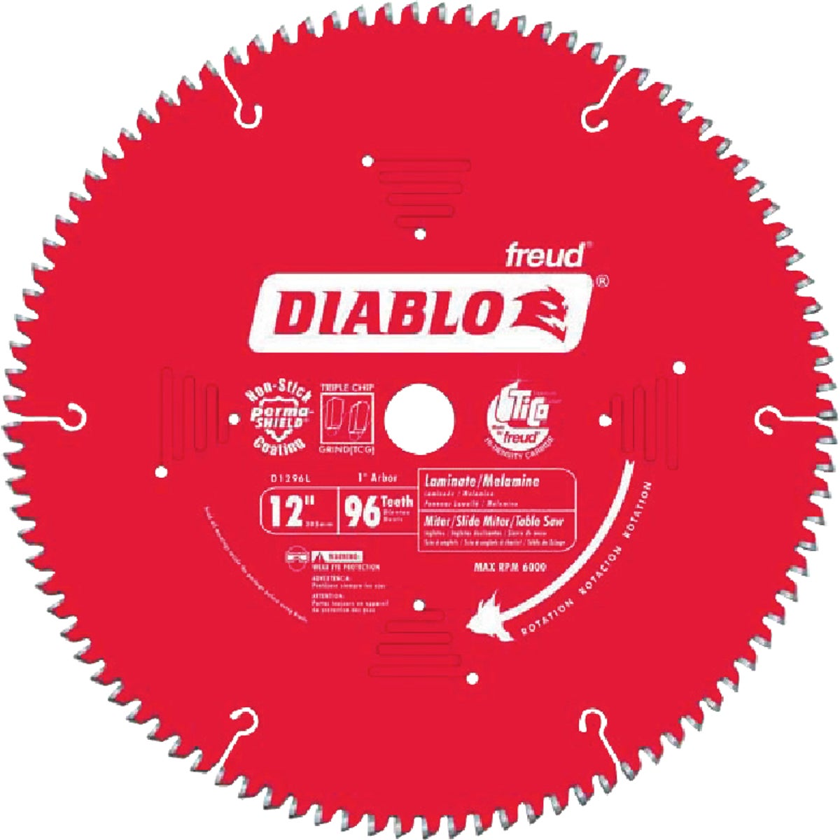 "12"" X 96T LAMINATE BLADE - D1296L by Freud Inc"