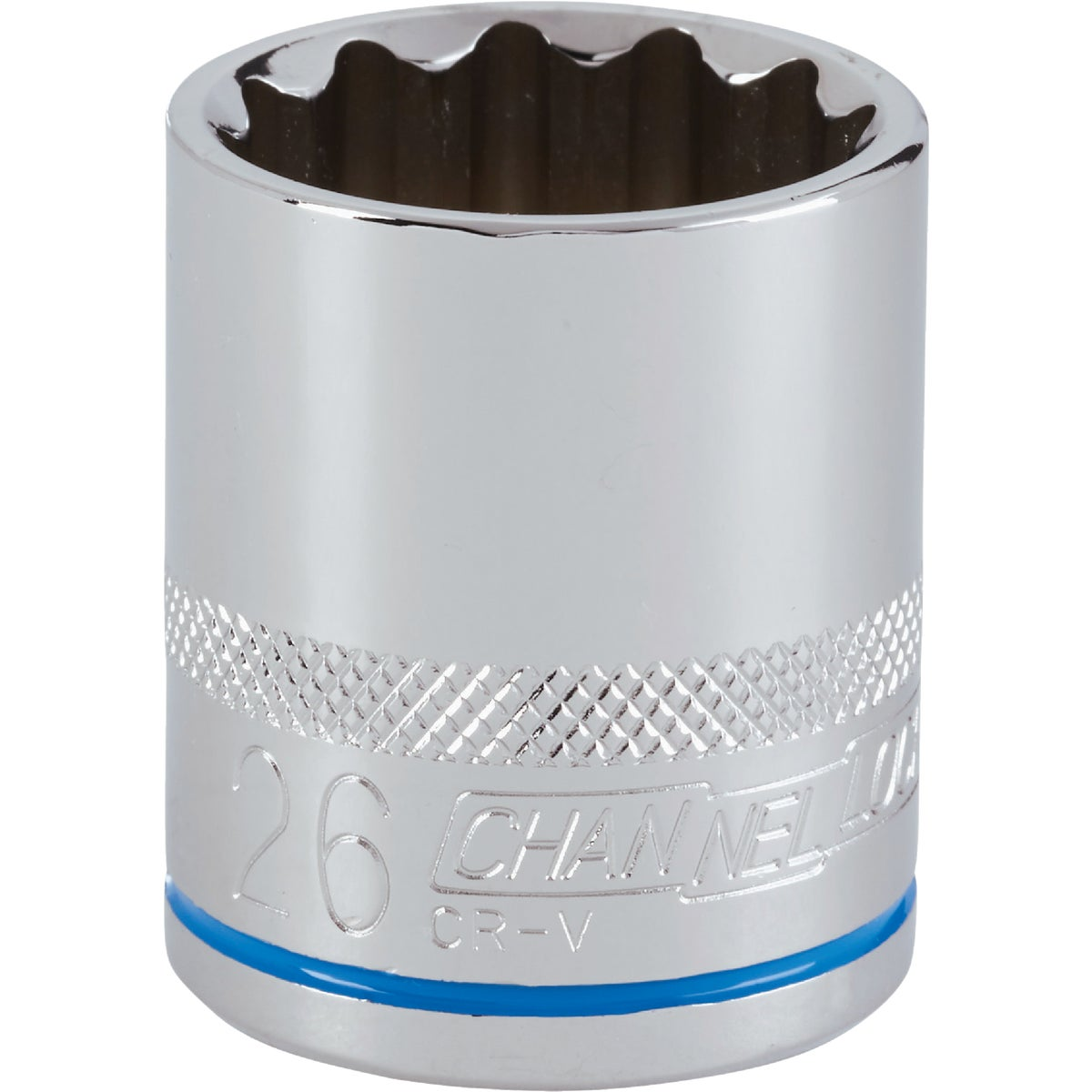26MM 1/2 DRIVE SOCKET - 12726 by Apex Tool Group