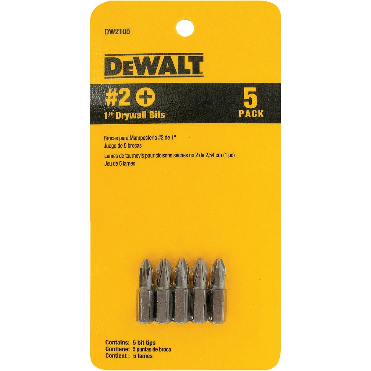 5PC DRYWALL BIT SET - DW2105 by DeWalt