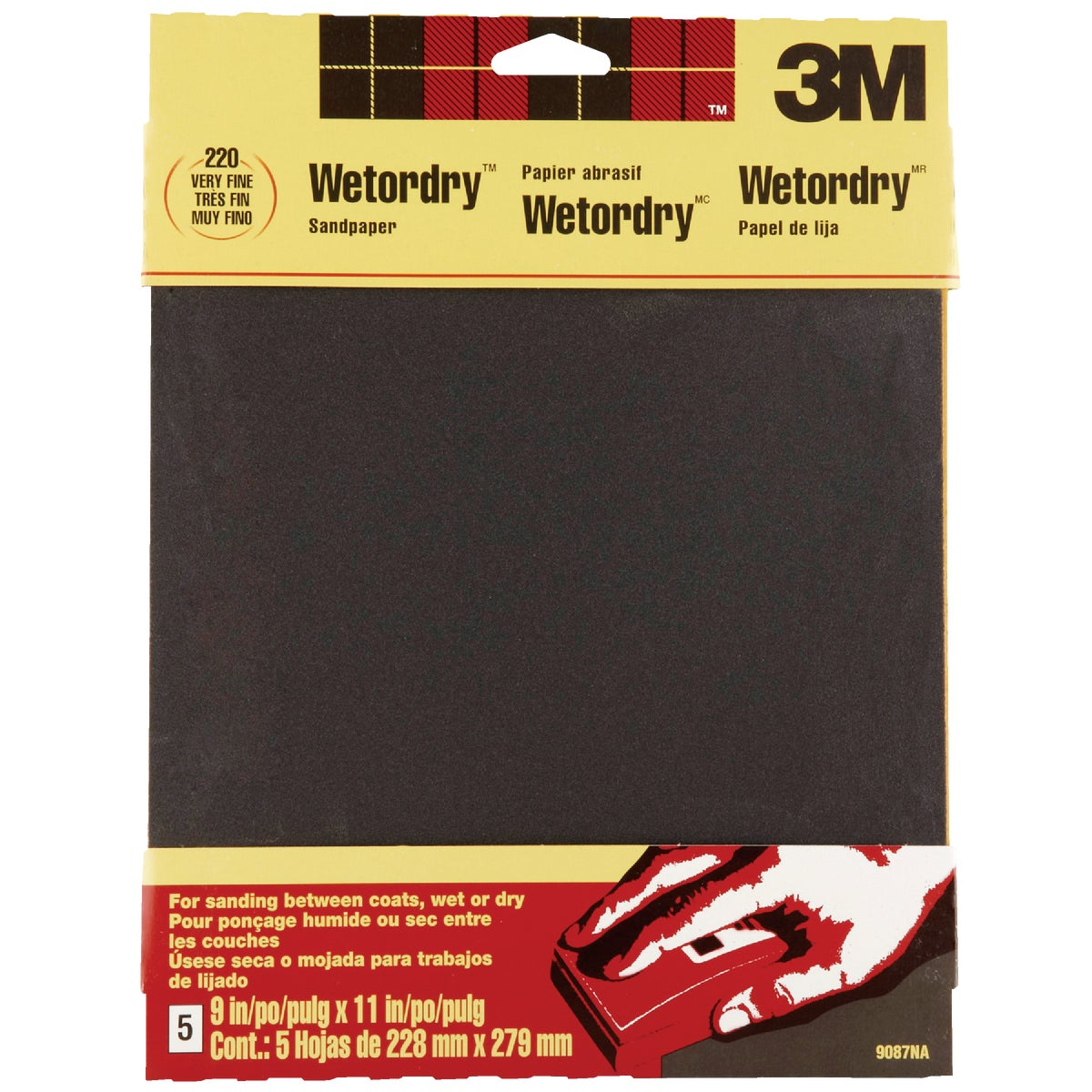 5PK VFINE WET SANDPAPER - 9087 by 3m Co