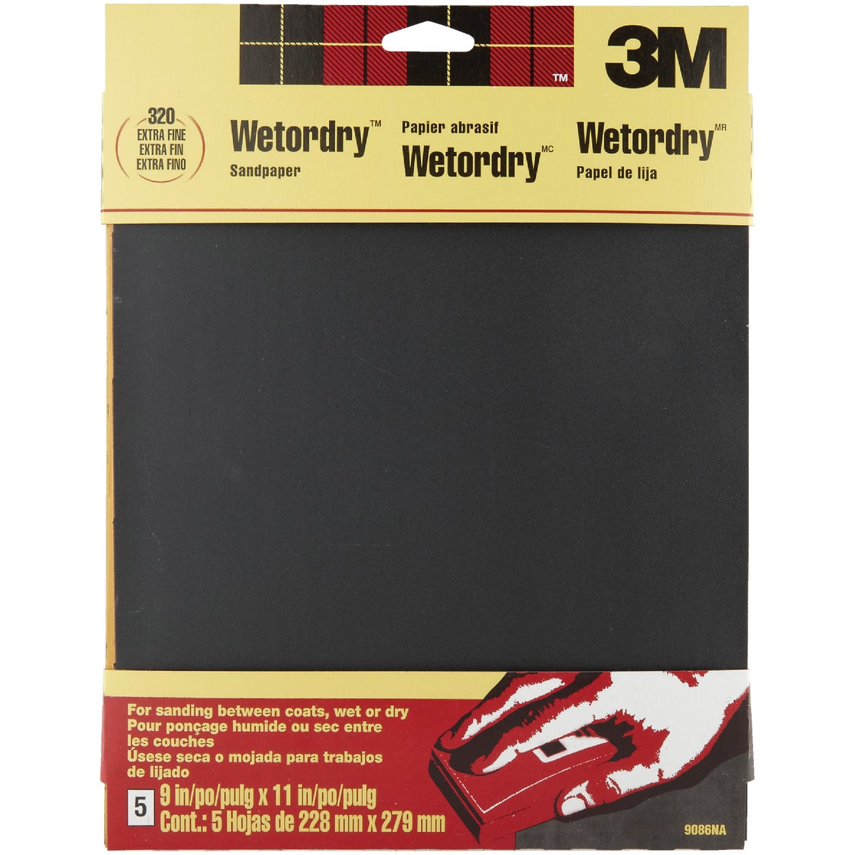 5PK XFINE WET SANDPAPER - 9086 by 3m Co