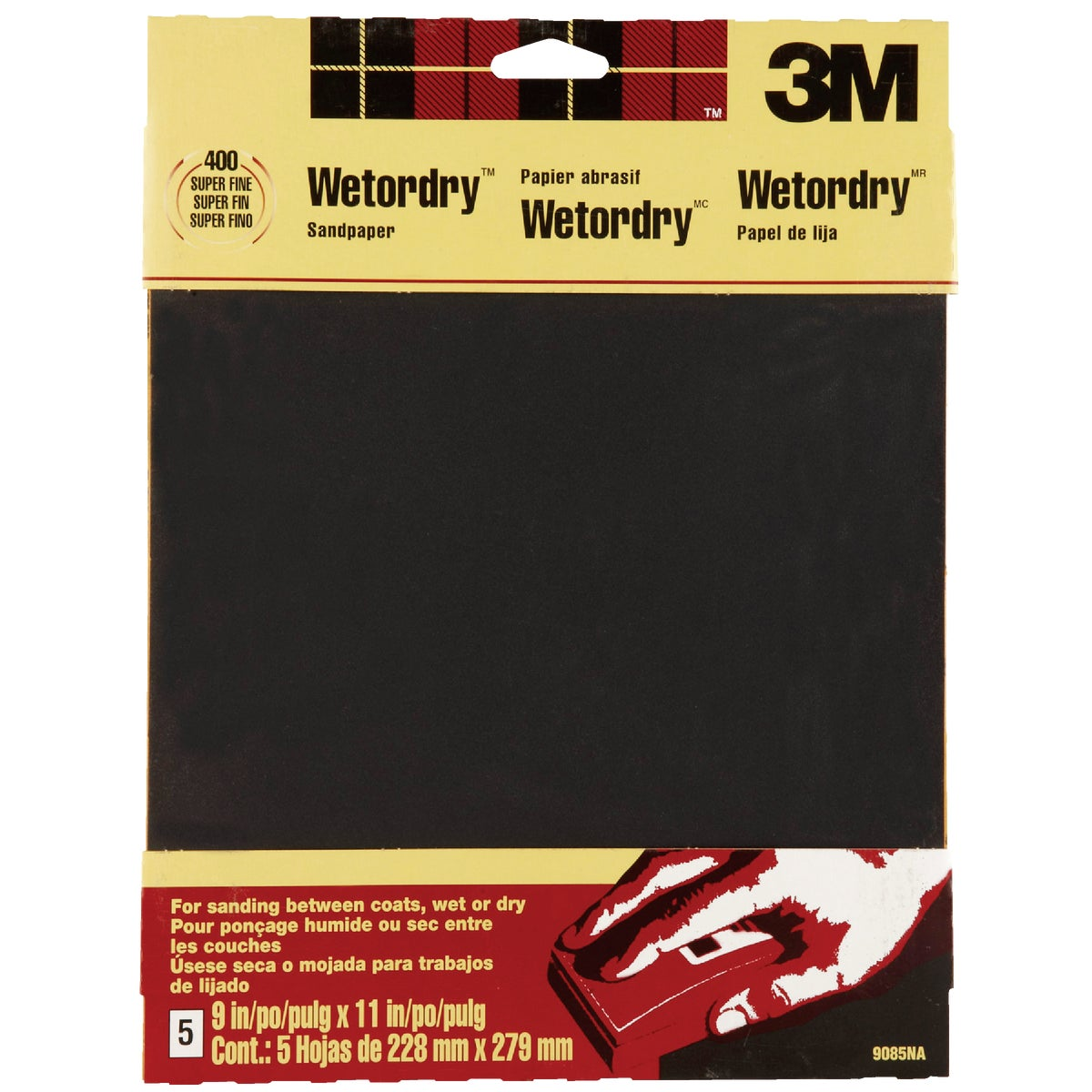5PK SFINE WET SANDPAPER - 9085 by 3m Co