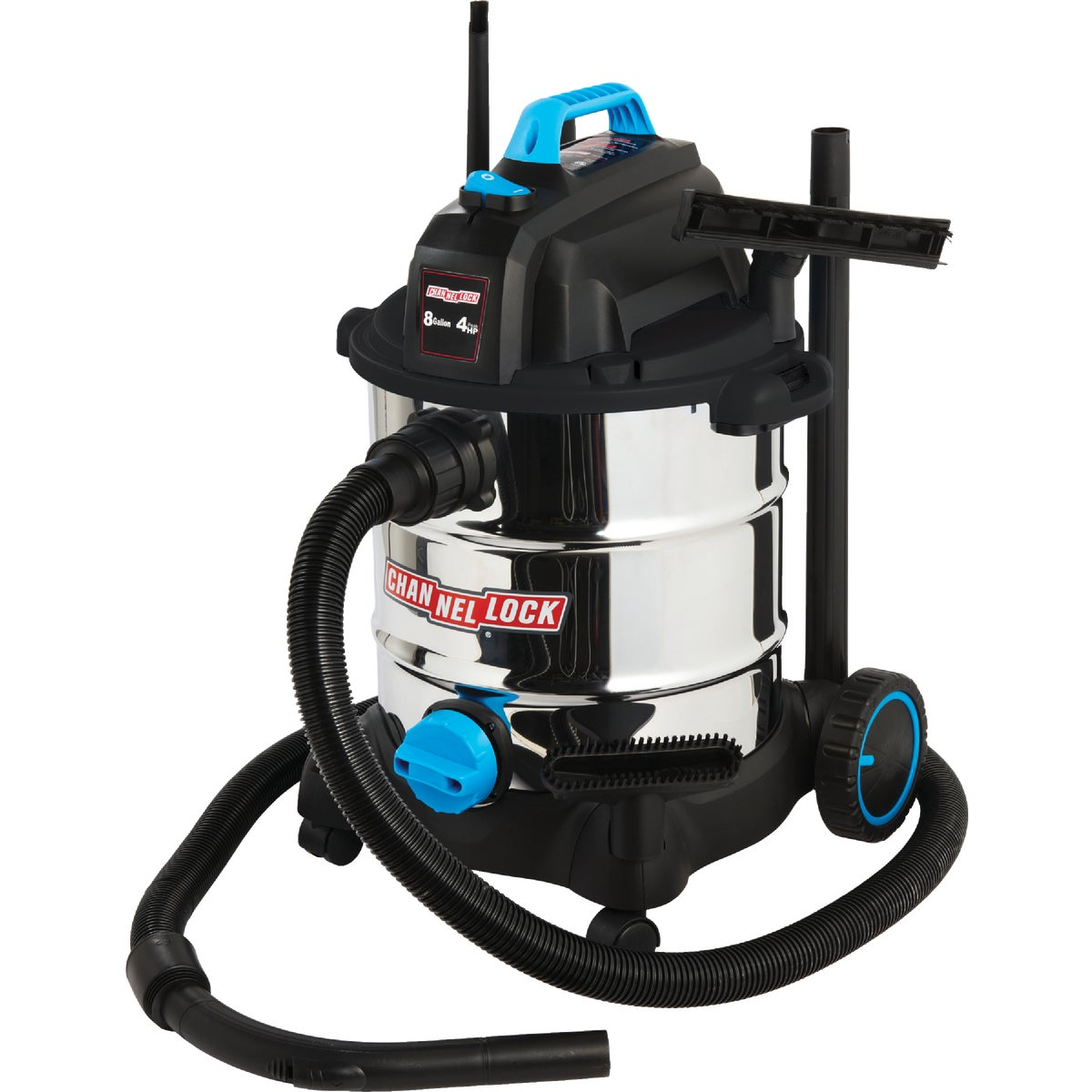 8GAL SS 4HP WET/DRY VAC - VS810W.CL by Channellock®