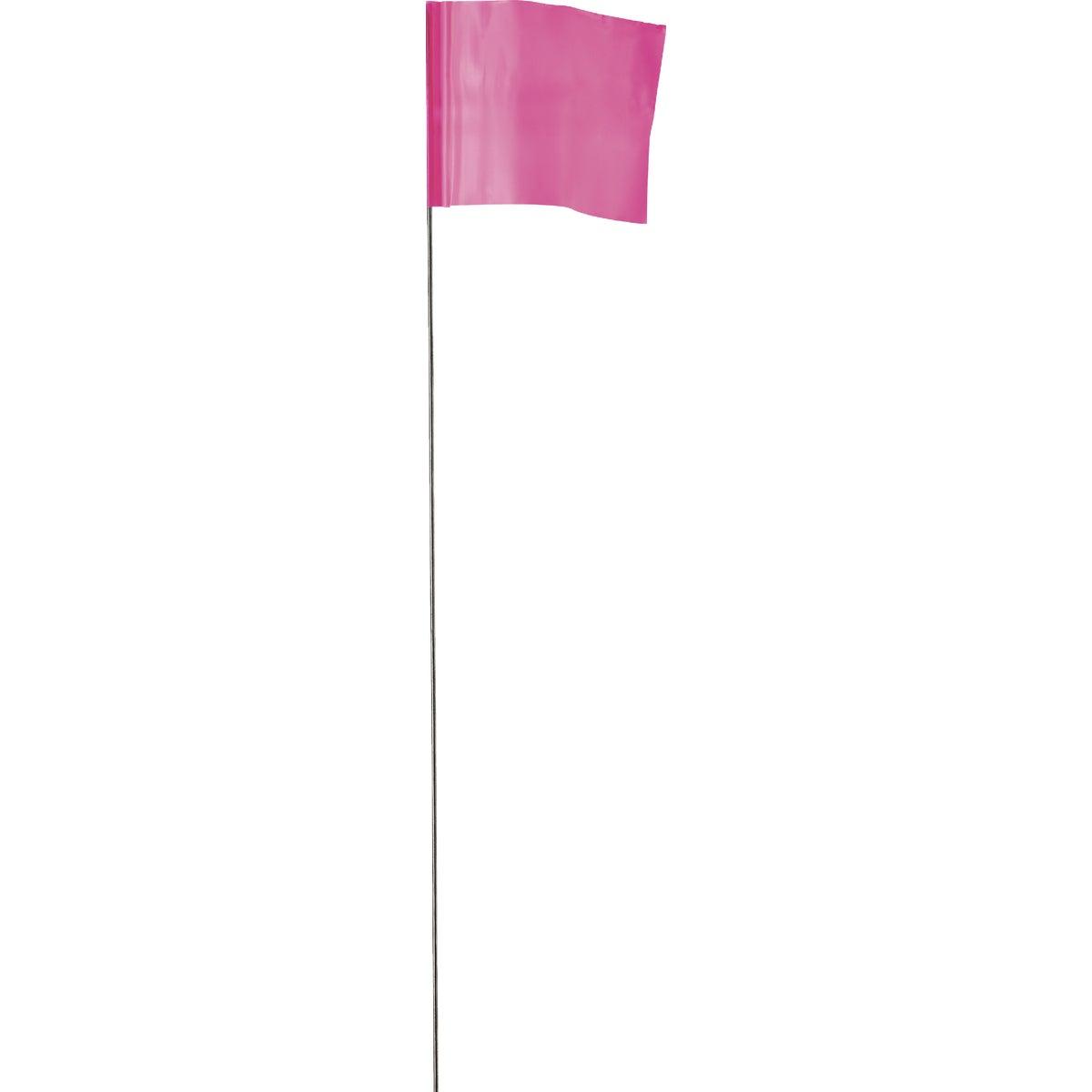 Irwin 100PK PINK FLAGS 64101