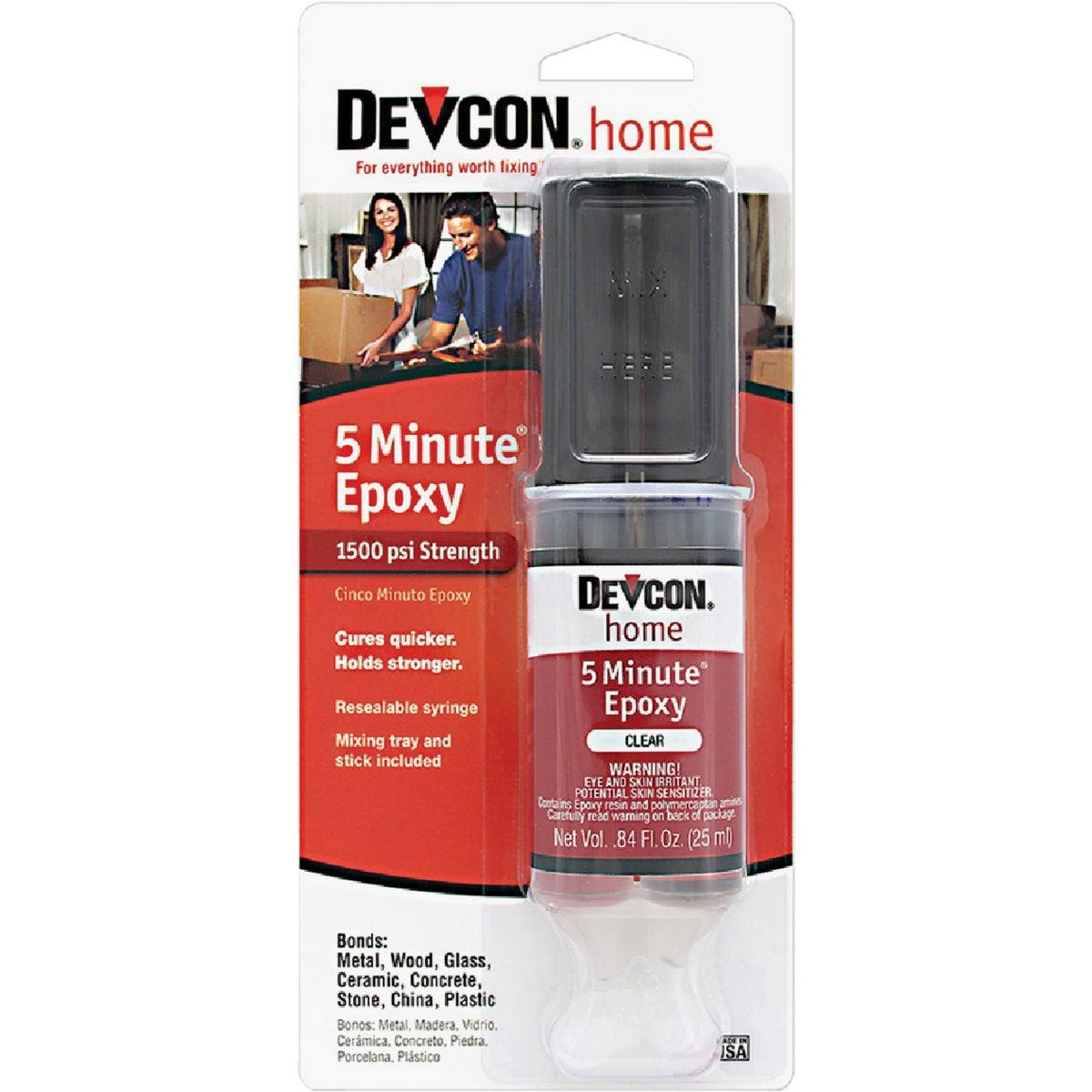ITW Consumer/ Devcon 1OZ 5-MIN EPOXY SYRINGE S-208