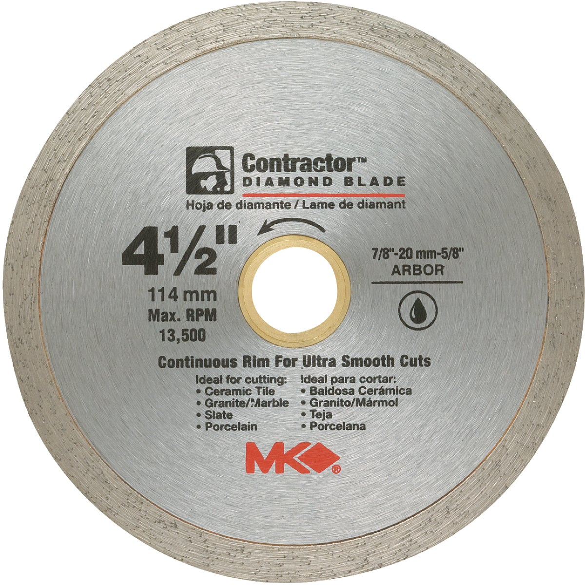 "4.5"" CONTINUOUS BLADE - 167028 by M K Diamond Products"