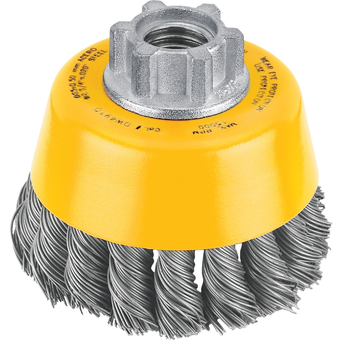 "3"" KNOTTED CUP BRUSH - DW4910 by DeWalt"