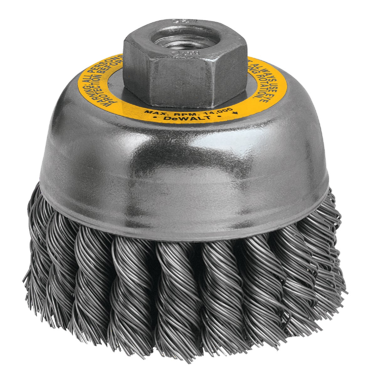 "3"" KNOTTED CUP BRUSH - DW4915 by DeWalt"