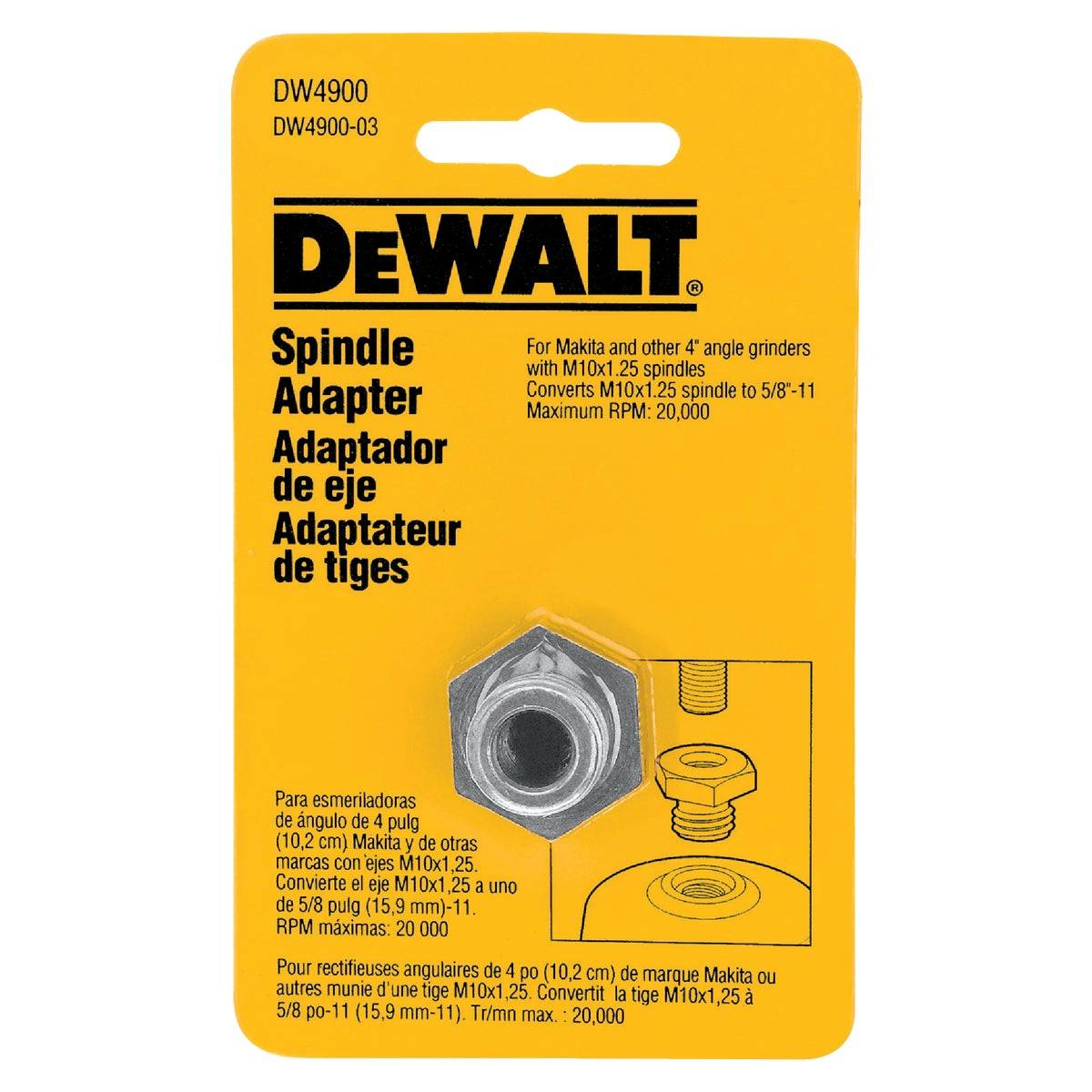 "5/8"" ARBOR ADAPTER - DW4900 by DeWalt"