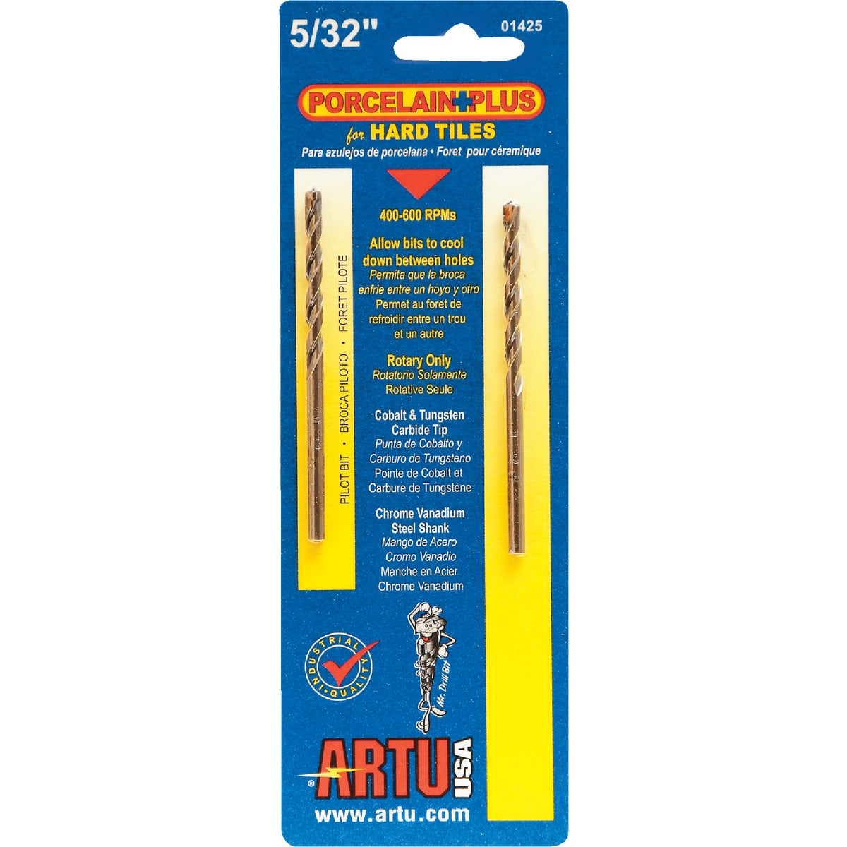 "5/32"" PORC AND TILE BIT - 01425 by Artu Usa Inc"