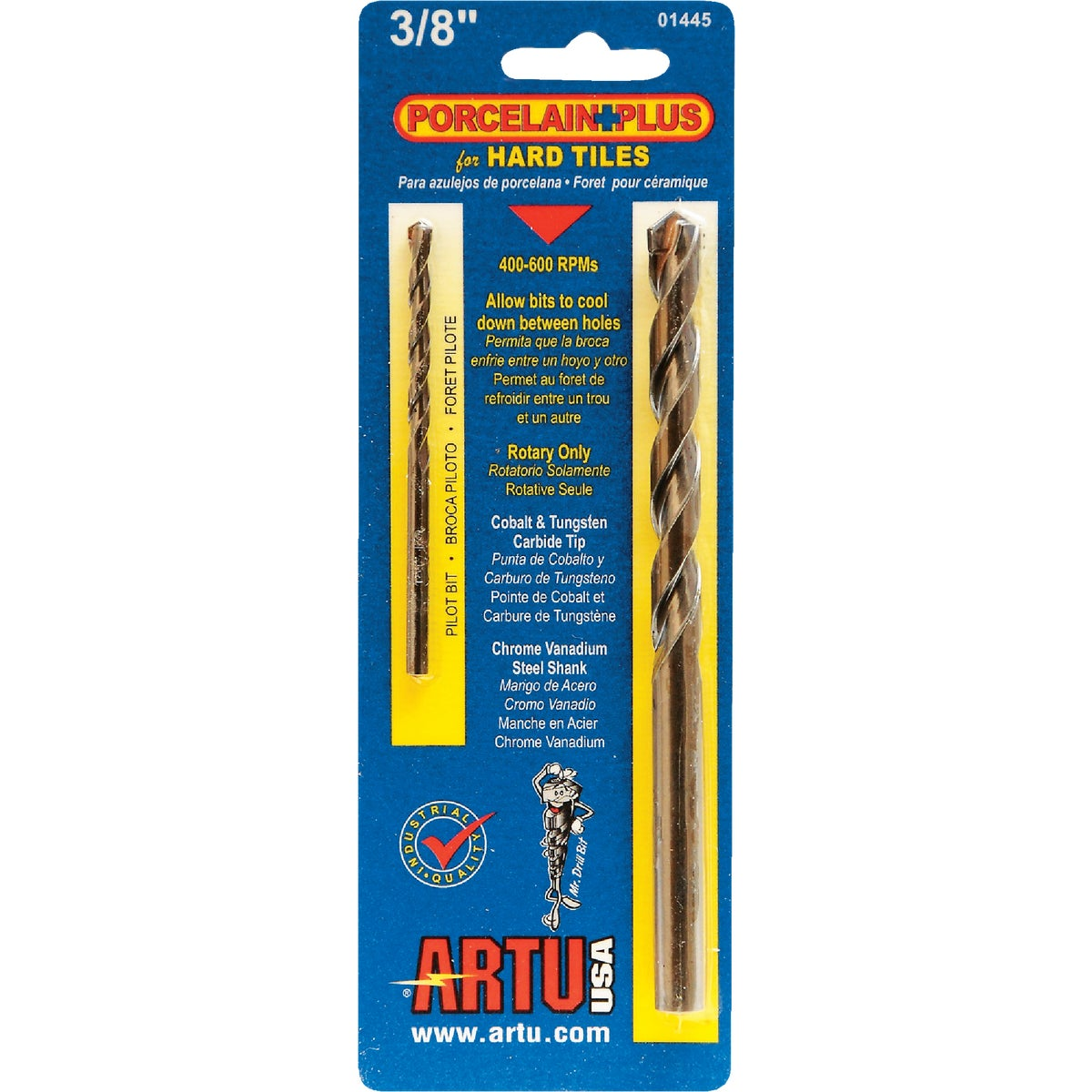 "3/8"" PORC AND TILE BIT - 01445 by Artu Usa Inc"