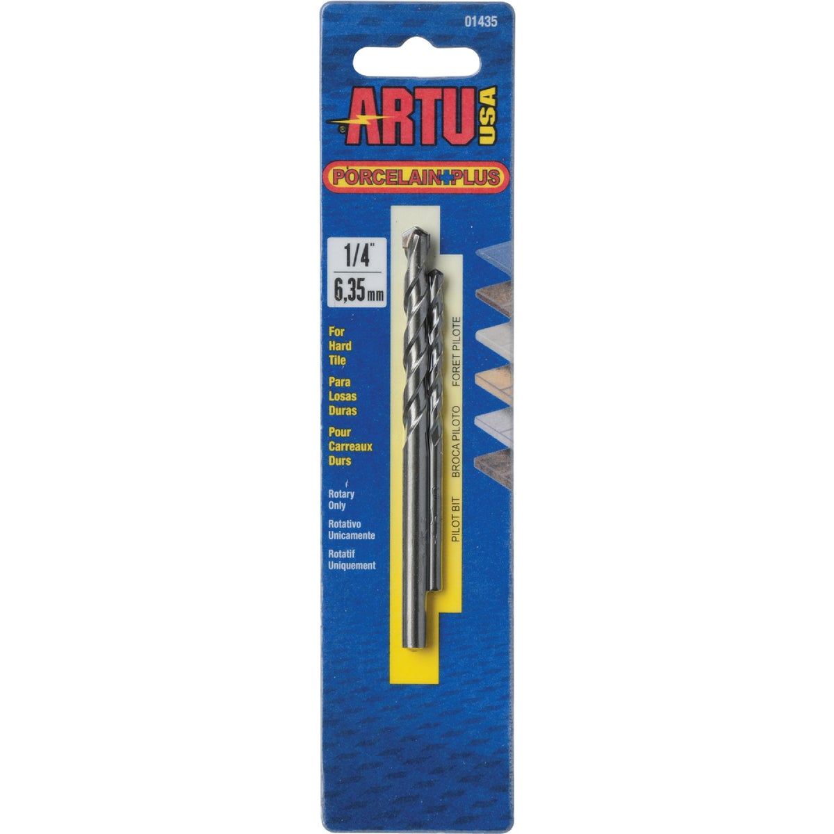 "1/4"" PORC AND TILE BIT - 01435 by Artu Usa Inc"