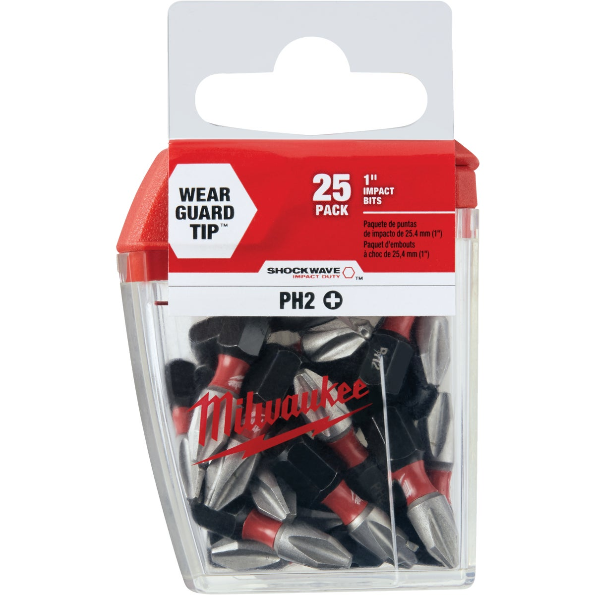 "25PK #2 1"" PHILLIPS BIT - 48-32-4604 by Milwaukee Accessory"