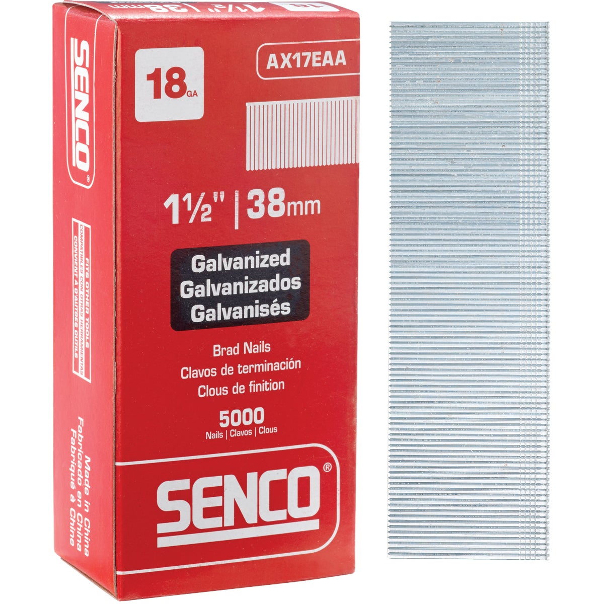"1-1/2"" 18GA BRAD - AX17EAA by Senco Brands"