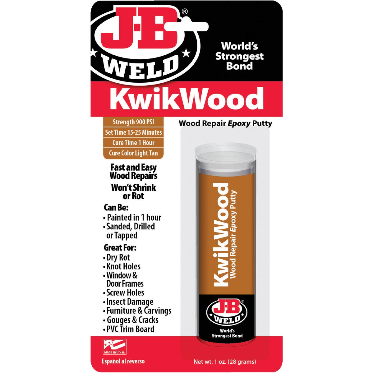 KWIKWOOD REPAIR EPOXY - 8257 by J B Weld Co