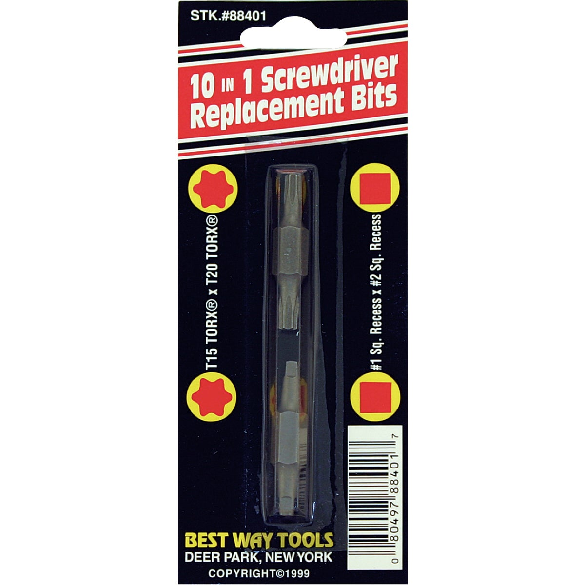10-in-1 Replacement Double-End Screwdriver Bit