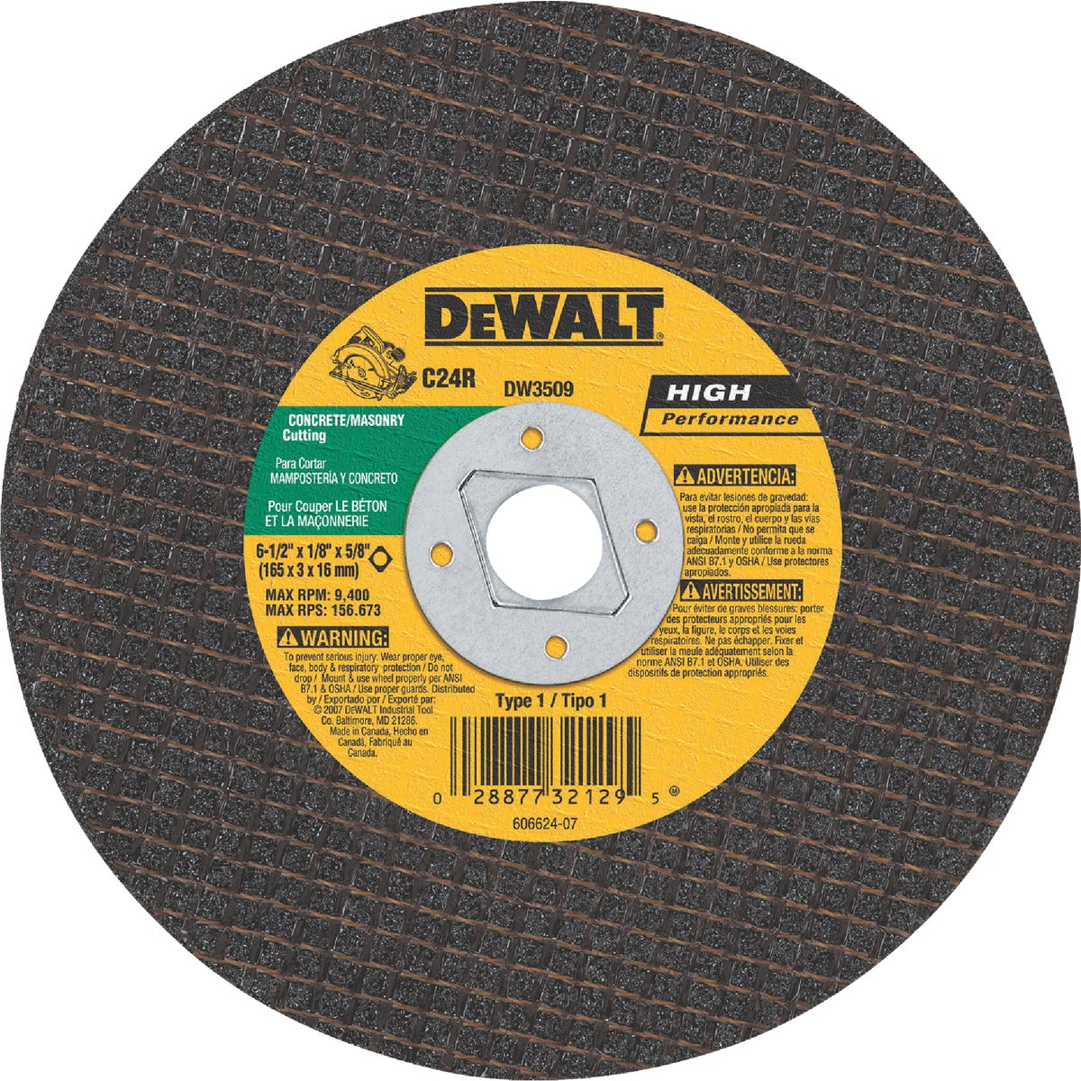 """6-1/2"""" MSNRY ABRSV BLADE - DW3509 by DeWalt"""