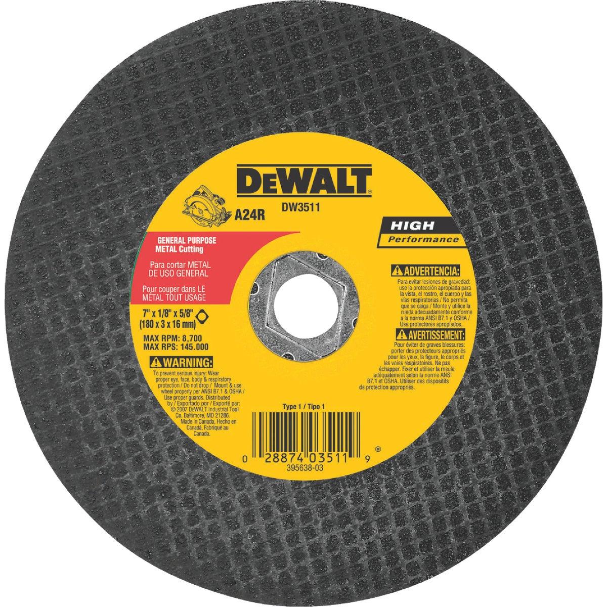 "7"" METAL ABRASIVE BLADE - DW3511 by DeWalt"