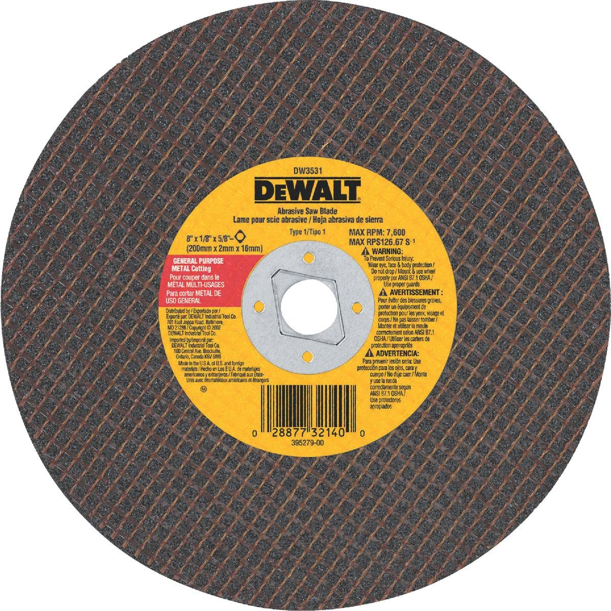 "8"" METAL ABRASIVE BLADE - DW3531 by DeWalt"