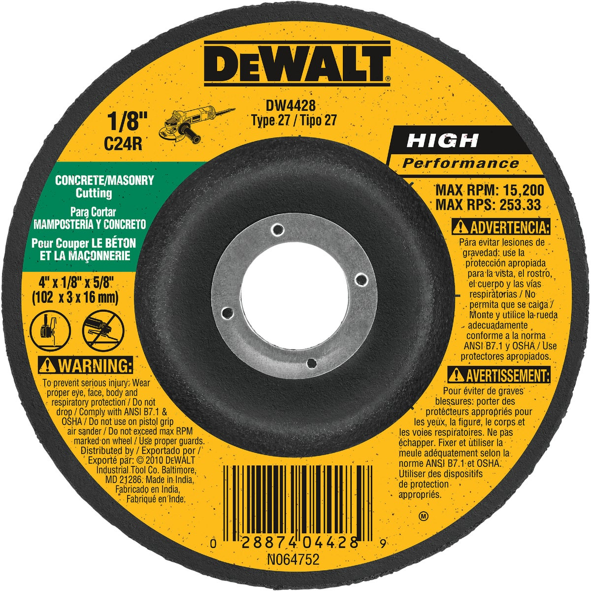 4X1/8 MSNRY GRIND WHEEL - DW4428 by DeWalt