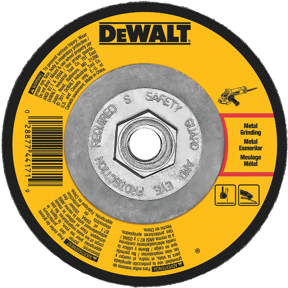 4-1/2X1/8X5/8-11 WHEEL - DWA4511H by DeWalt