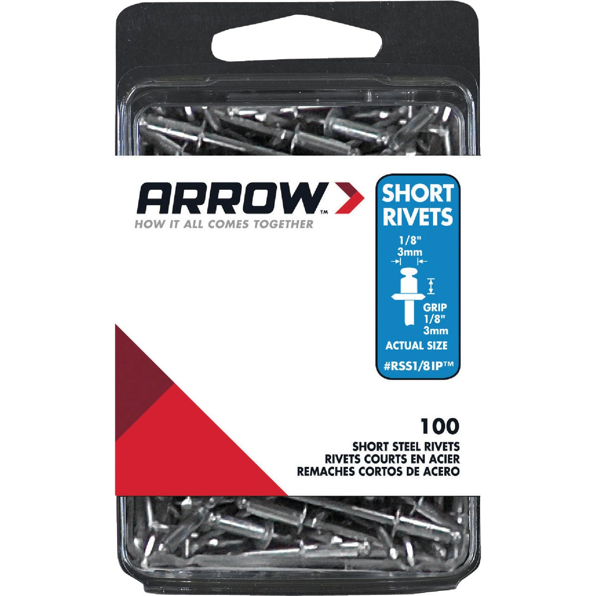 1/8X1/8 STL RIVET - RSS1/8IP by Arrow Fastener Co