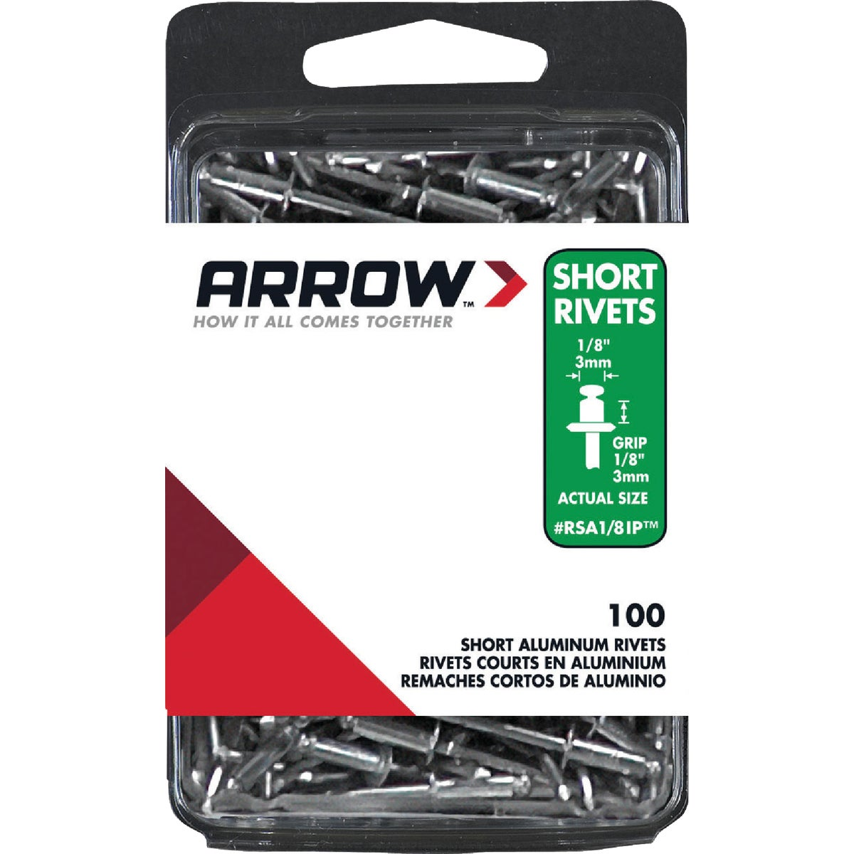 1/8X1/8 ALUM RIVET - RSA1/8IP by Arrow Fastener Co