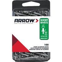 Arrow Fastener 1/8X1/8 ALUM RIVET RSA1/8IP