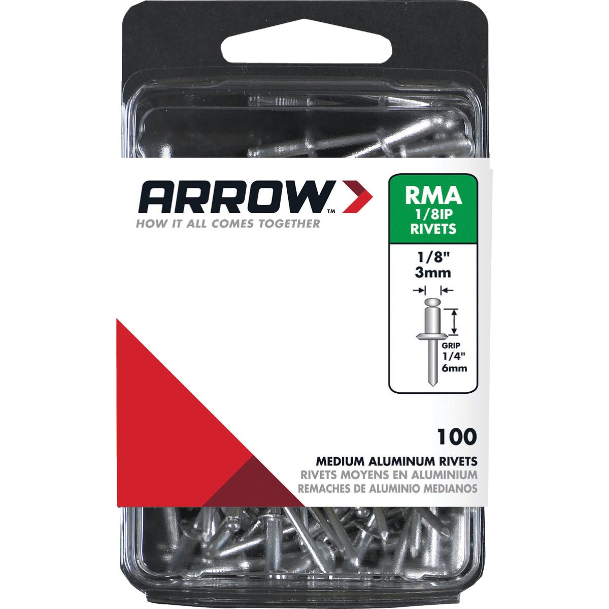 1/8X1/4 ALUM RIVET - RMA1/8IP by Arrow Fastener Co