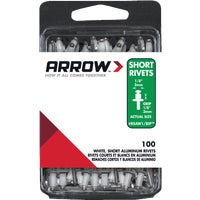 Arrow Fastener 1/8X1/8 WHT ALUM RIVET RSAW1/8IP