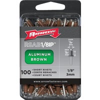 Arrow Fastener 1/8X1/8 BRN ALUM RIVET RSAB1/8IP