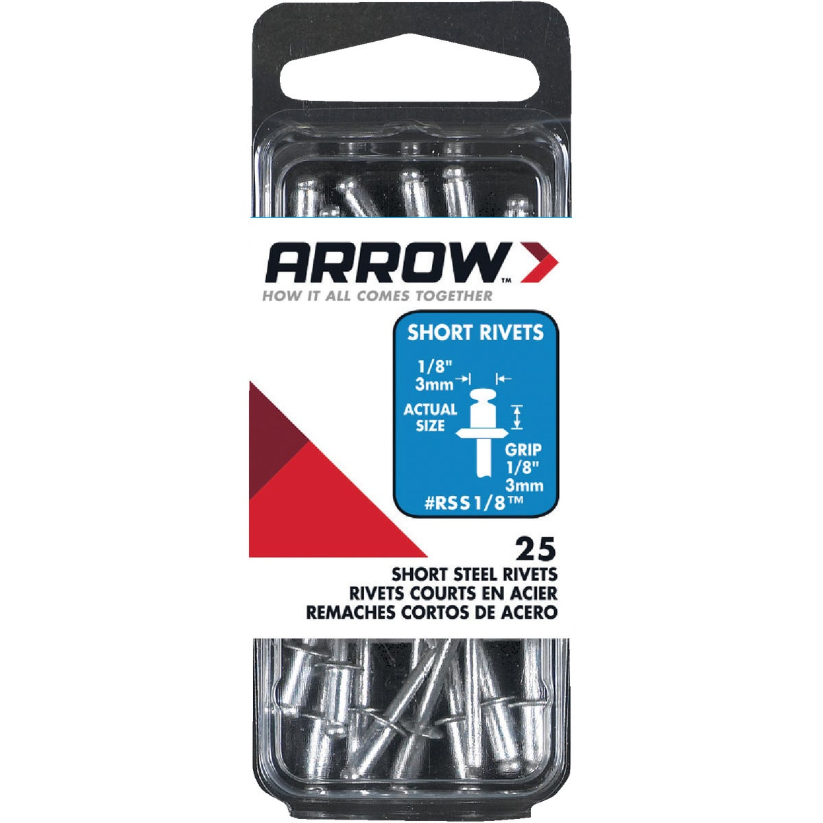 1/8X1/8 STL RIVET - RSS1/8 by Arrow Fastener Co