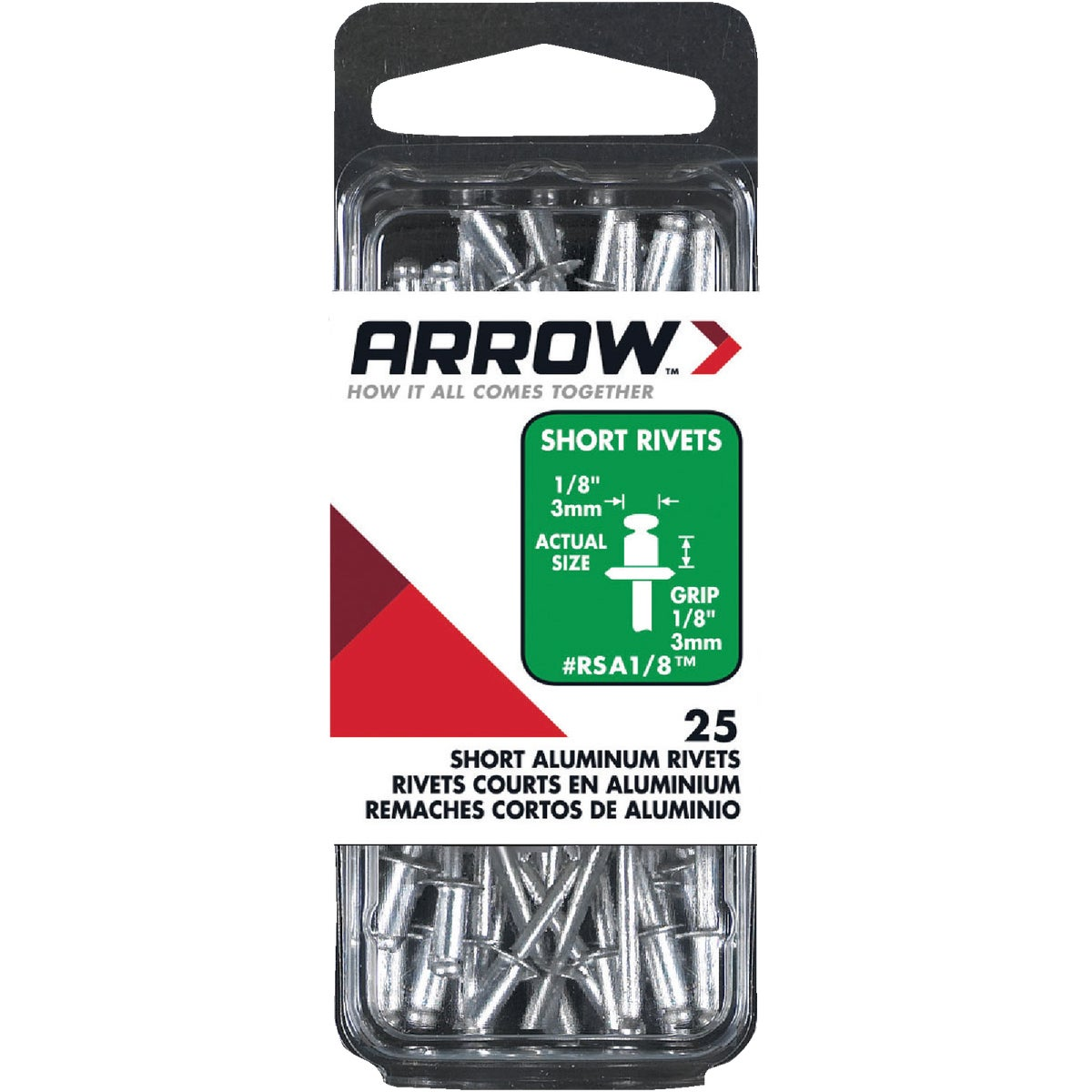 1/8X1/8 ALUM RIVET - RSA1/8 by Arrow Fastener Co