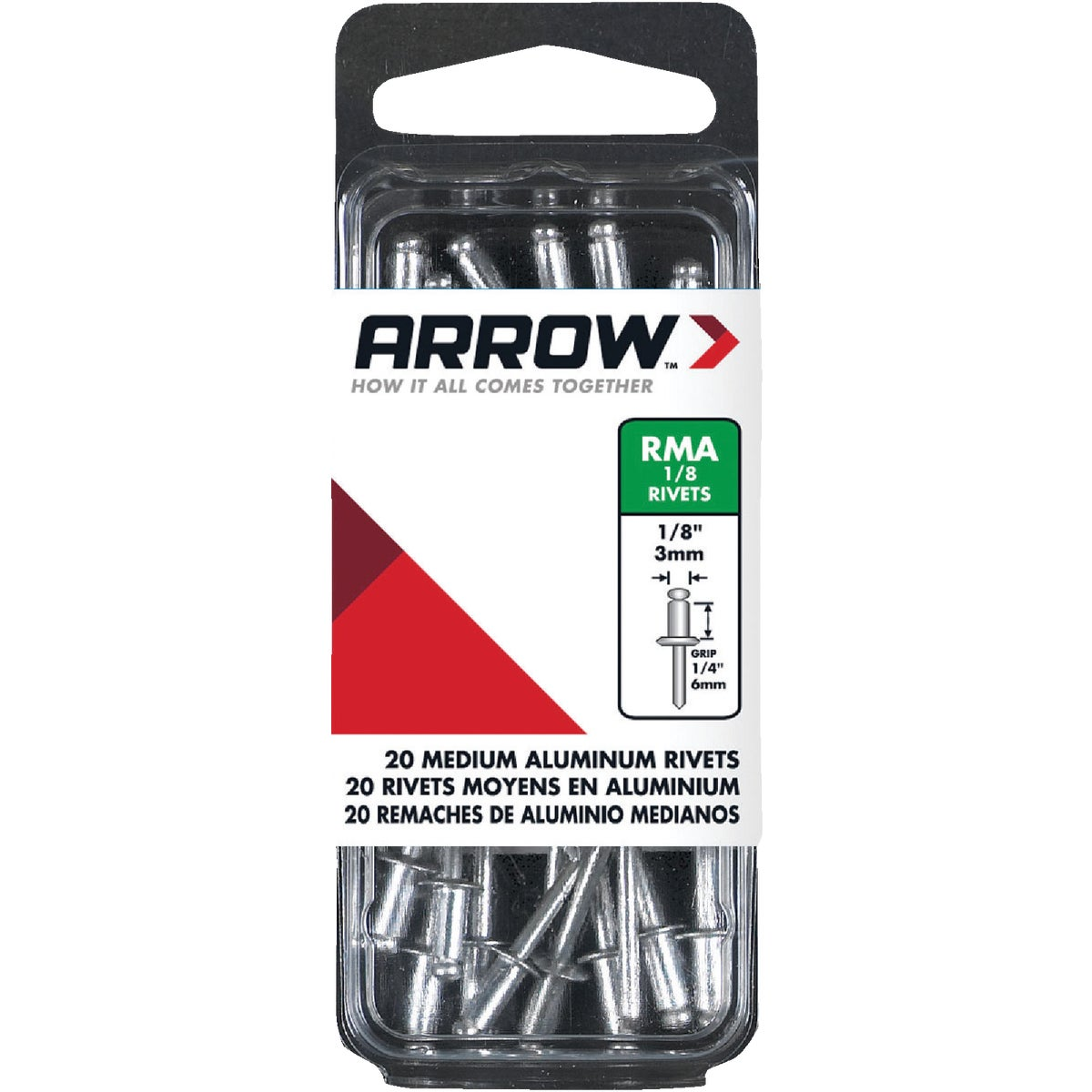 1/8X1/4 ALUM RIVET - RMA1/8 by Arrow Fastener Co