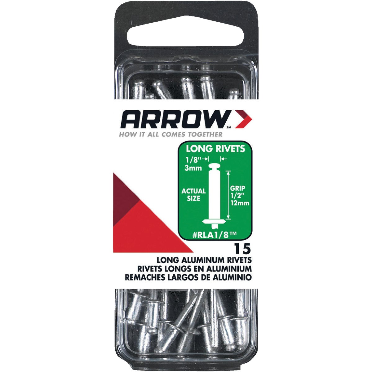 1/8X1/2 ALUM RIVET - RLA1/8 by Arrow Fastener Co