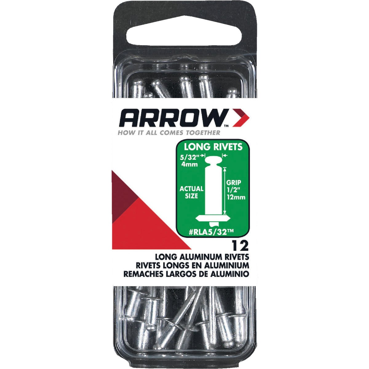 5/32X1/2 ALUM RIVET - RLA5/32 by Arrow Fastener Co