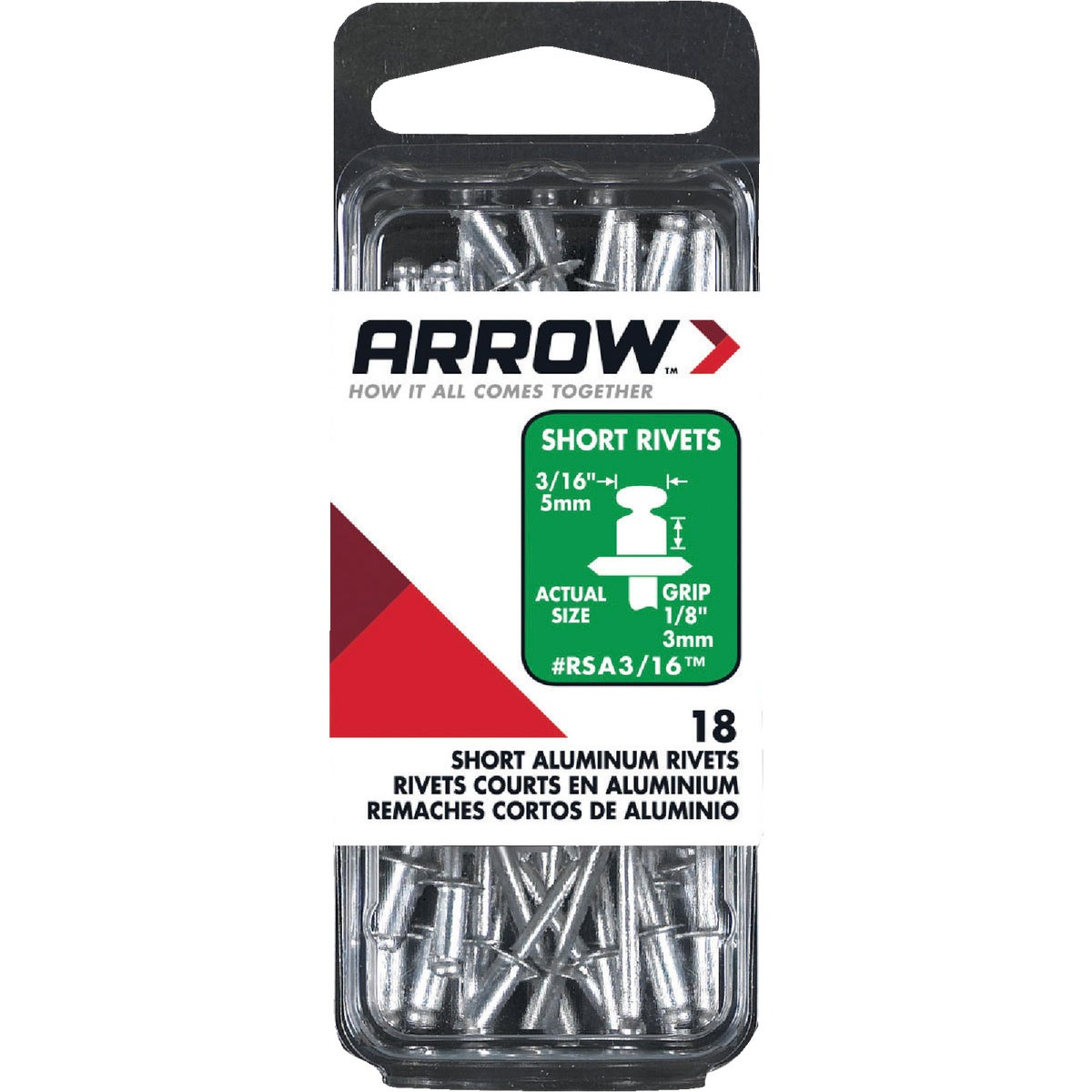3/16X1/8 ALUM RIVET - RSA3/16 by Arrow Fastener Co