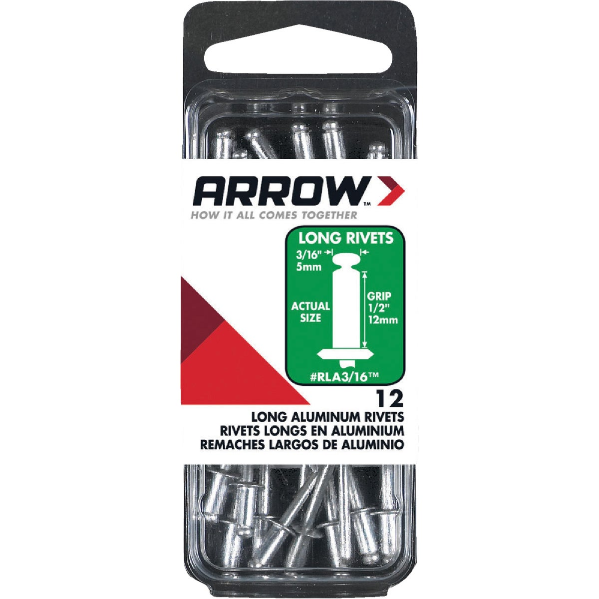 3/16X1/2 ALUM RIVET - RLA3/16 by Arrow Fastener Co