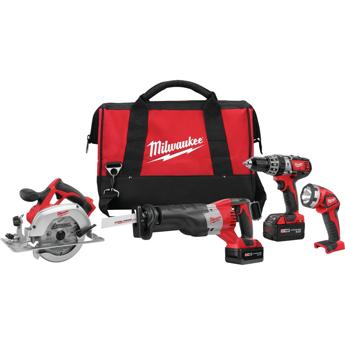 M18 4-TOOL COMBO KIT - 269424 by Milwaukee Elec Tool