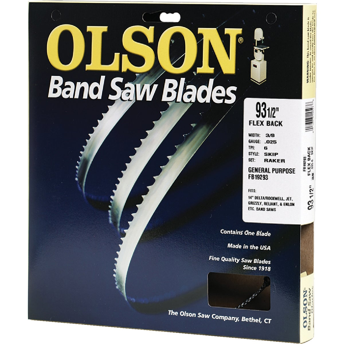 "93-1/2"" BANDSAW BLADE - 19293 by Olson Saw Co"