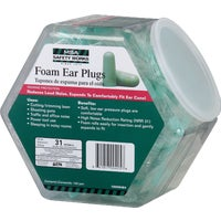 100 Pairs Foam Earplugs in Counter Dispenser, 10059484