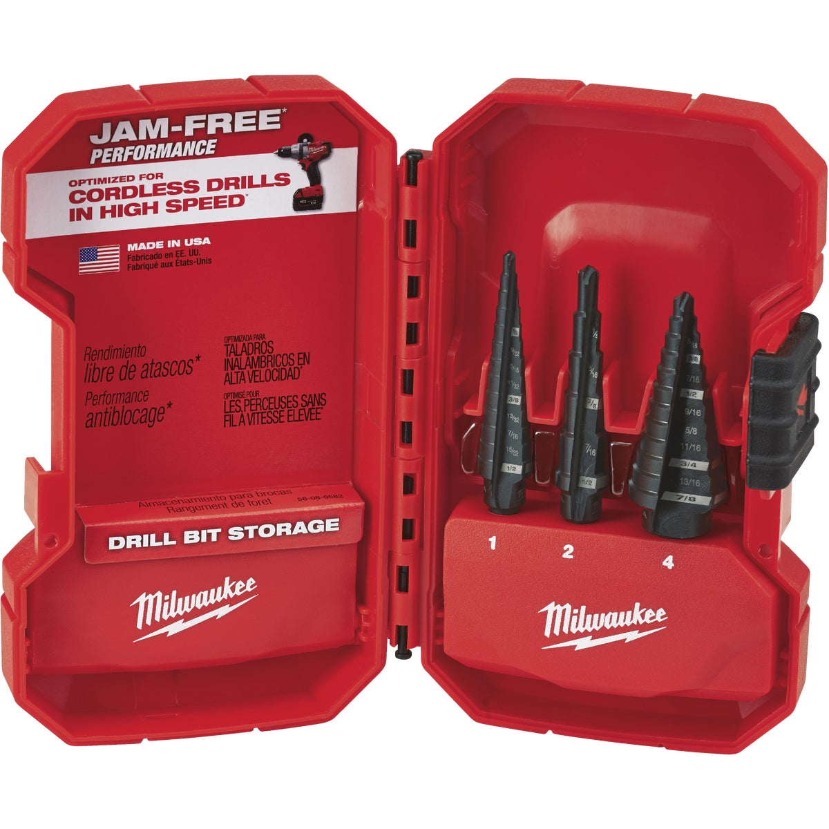 2PC STEP DRILL BIT SET - 48899050 by Milwaukee Accessory